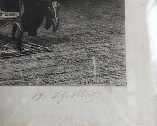 Signature on Vibert