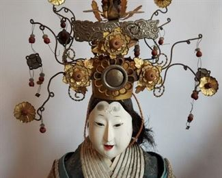 Japanese seated dolls Vintage  Emperor and Emporess  $400