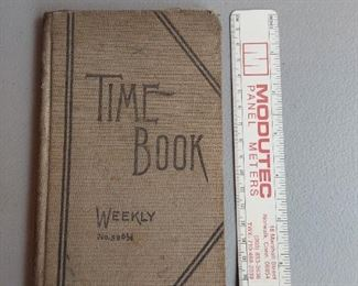 Weekly time ledger 1915 - $8