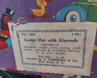 Vintage easter hat with almonds.  Box included  $15