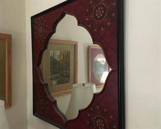 Pair of Large, Exotic, Mediterranean Mirrors
