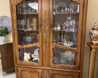 """4. Thomasville oak armoire. 49""""L x 18""""D x 79""""H  $399"""