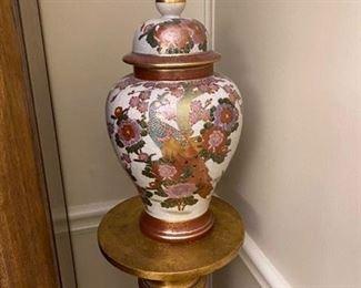 """6. Ginger jar. 16""""H x 8""""W  $40                                          (original purchase price $149)"""