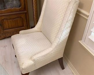 8. Pair of arm chairs (some stains) $80