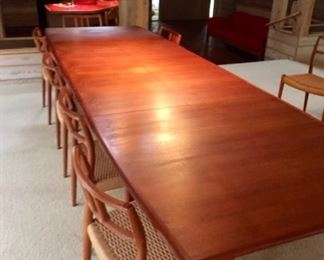 Sleek clean look Falster Danish Teak Dining Room Set