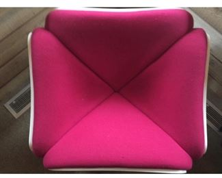 Pink and White Pierre Paulin Lounge Chair F303, great shape!