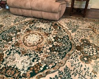 Beautiful Area Rug, base color is green