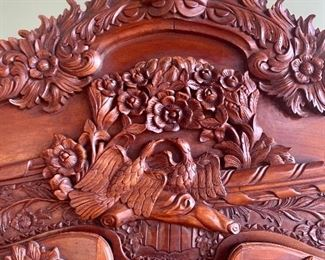 Beautifully detailed workmanship on the two Antique Armoires we have available.