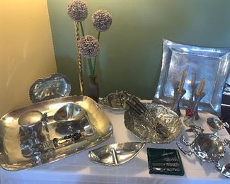 Nambe and other aluminum pewter pieces