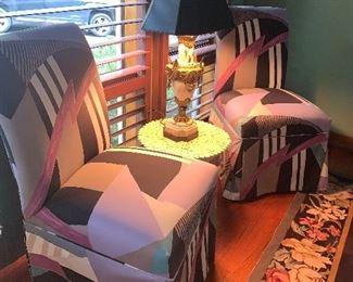 Geometrical deign chairs