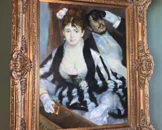 Large Oil on canvas Couple portrait