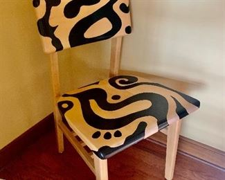 hand painted maple chair in
