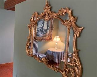 Large Gold Vintage Mirror