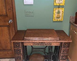 Vintage sewing cabinet