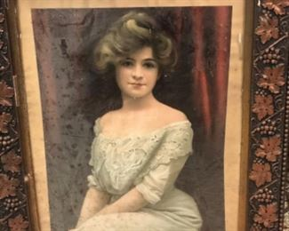 Lovely portrait in antique frame.