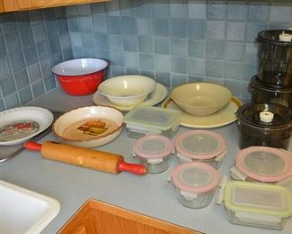 Dishes and tupperware