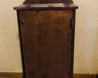 victorian music chest with beveled mirror