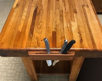 "Custom Made Butcher Block   29""w x 36""l x 33""h"