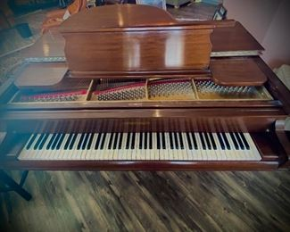 Beautiful Grand Piano by Chickering. Appraisal included in photos . STUNNING. Passion meets craftsmanship with this Piano. Ivory Keys and foot pedals.. come play this gem and you won't leave without it!