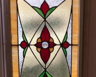 STAINED GLASS WINDOW - CAME FROM A HOUSE IN BROOKLYN