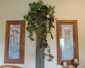 Framed Art, Architectural Column Wall Art
