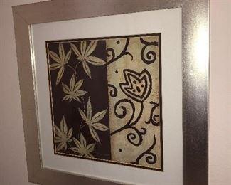 Set of matching framed art