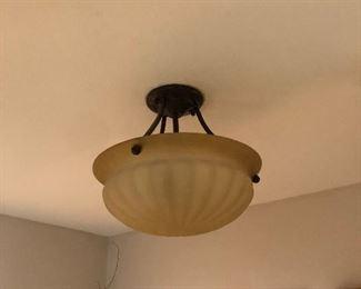 Antique Frosted Flush Mount Ceiling Light Fixture