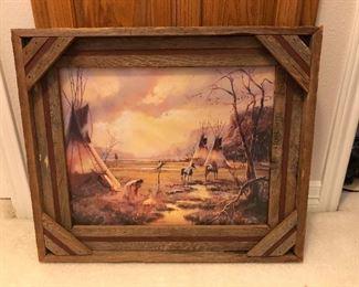 "Hulan Fleming Native American Encampment ""Gold Shadow Camp"""