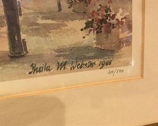 Sheila M Webster 1988   216/500