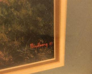 """Framed Dalhart Windberg """"Pastoral Colours"""""""