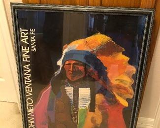 "Signed Poster Print from Santa Fe Museum ""John Nieto Ventana Fine Art"""