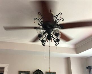 There are two of these 4 Light, 5 Blade Decorative Ceiling Fans
