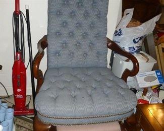 Blue high-back chair