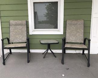 . . . a nice three-piece patio/porch set