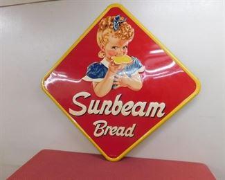 "1956 Sunbeam Embossed Diamond Shape Sign(48"" x 48"" A.A.W. Co.)"