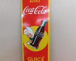 Porcelain French Coca Cola Sprite Boy Vertical Sign