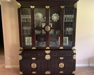 Large Oriental Theme China Cabinet