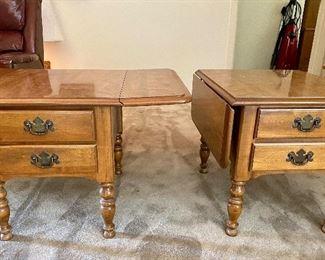 Vintage Ethan Allen Drop Leaf End Tables