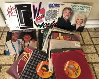 Lot of Classic Rock, Pop, & Country 45's Vinyl Records