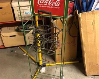 Vintage Coca Cola display stand