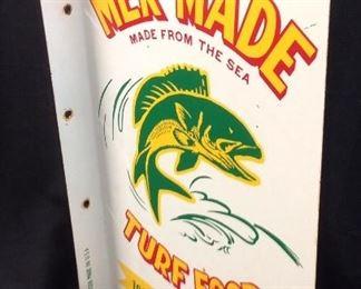 VTG. MER-MADE TURF FOOD FLANGE SIGN, 18'