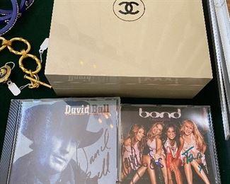 Chanel beauty box, signed CD's