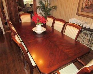 Beautiful dining table seats 8