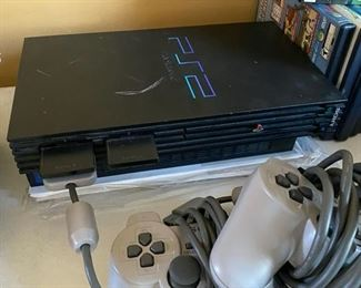 PlayStation 2 game console v3 steering wheel, guitar, controllers, games etc.	N/A		D966
