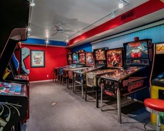 Private Arcade Room, Not All are for Sale