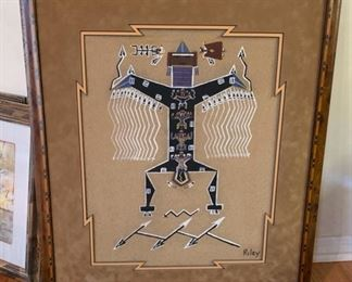 Native American Sand Painting Riley Johnston Navajo	28x24x.5in	HxWxD	19639