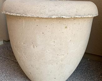 #2 Large Cast Stone Planter/Pot with Faux Palm	23in H x 24in Diameter		19631