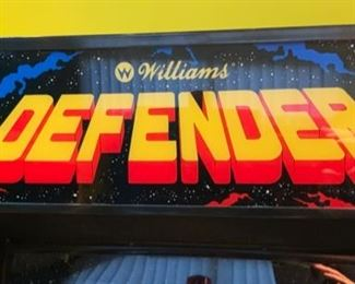 1980 Williams Defender Video Arcade Game Coin-Op	70x26x30in	HxWxD	19578