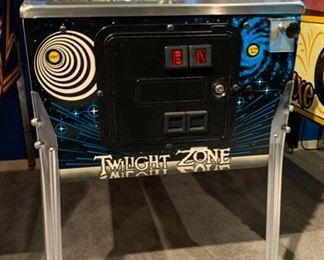 1993 Bally Twilight Zone Pinball Machine Coin op	74x29x57	HxWxD	19572
