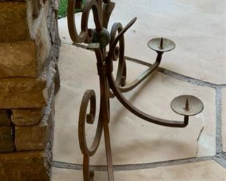 Heavy Wrought Iron Wall Mount Candle Holder	17x30x10in	HxWxD	19554